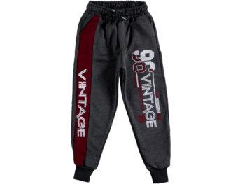 Спортивные штаны 9/12 лет тёмно-серые 310281