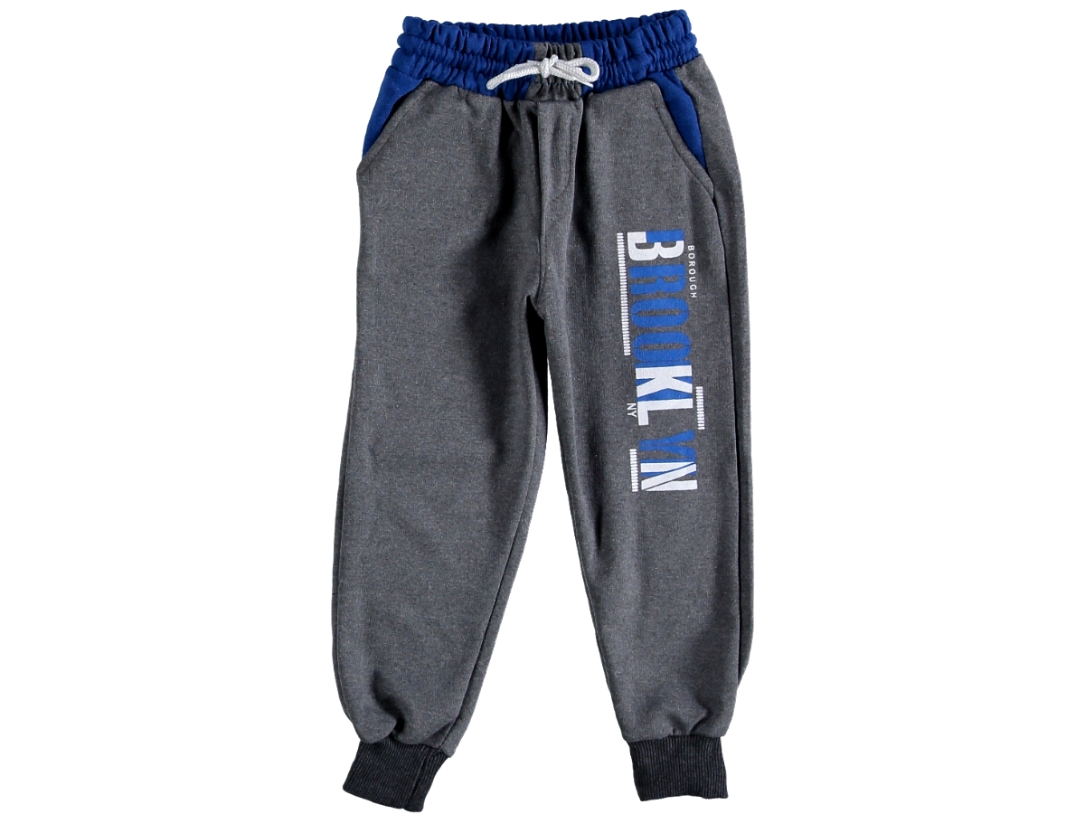 Спортивные штаны 5/8 лет темно-серые 306726