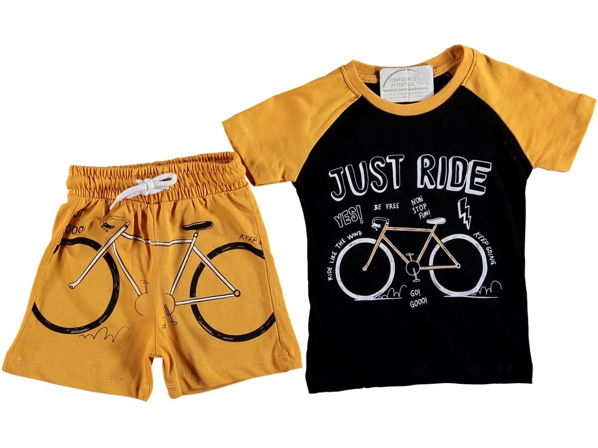 Костюм с велосипедом 1/4 года жёлтый 322312