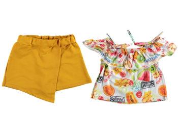Костюм юбка-шорты 5/8 лет жёлтый 321711