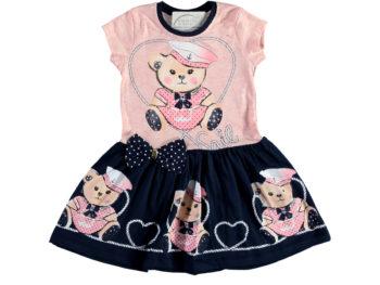 Платье Мишка 2/5 лет розовое 324377